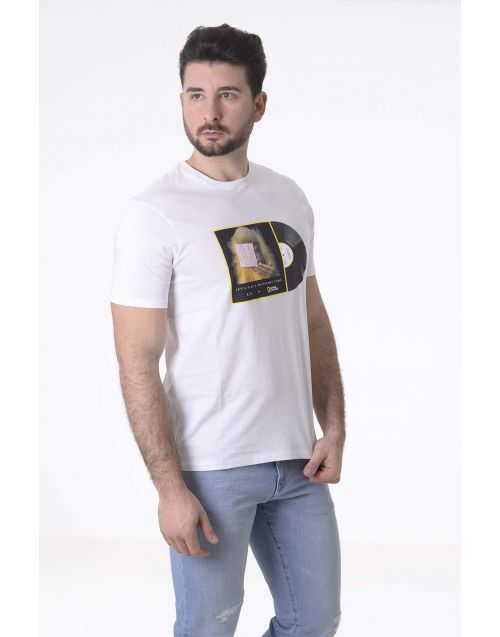 T-Shirt Armani Exchange con stampa National Geographic