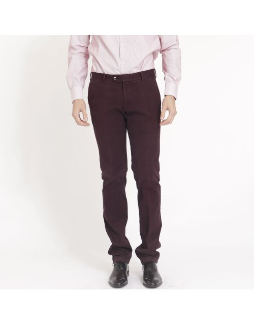 Gregory cotton trousers with zip and button closure
