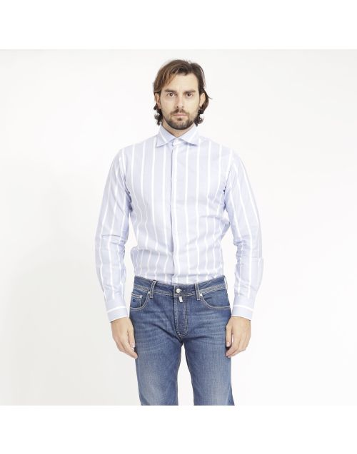 Gregory Oxford cotton shirt with stripes