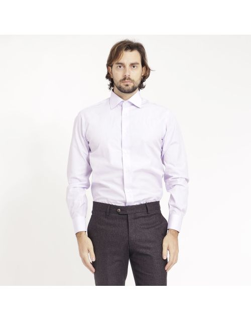 Gregory cotton shirt with spread collar