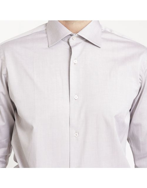 Camicia Gregory in cotone pinpoint