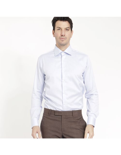 Gregory cotton shirt in light blue