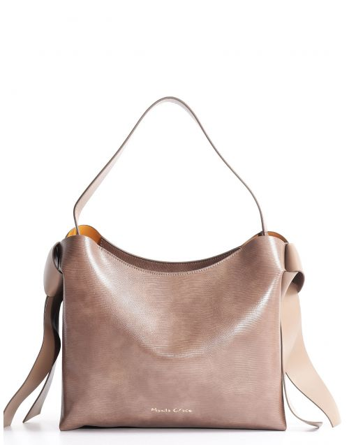 Manila Grace Holly hobo bag with side ribbons